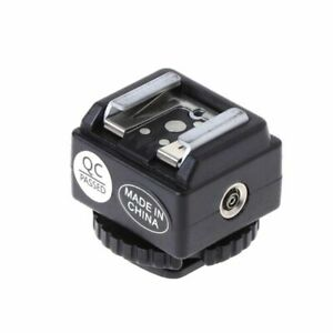 For Nikon Flash To Canon Camera Pro Hot Shoe Converter Adapter PC Sync Port Tool
