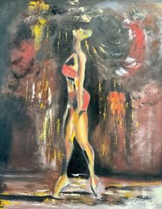 oil painting impressionist Abstract Figurative Modern Art on canvas original