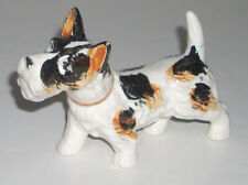 "Vintage Japanese 5"" Terrier Dog Hand Painted Figurine Japan"