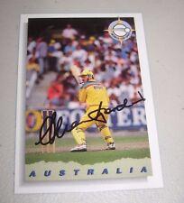 Allan Border (Australia) signed 1992 World Cup Cricket Card + COA