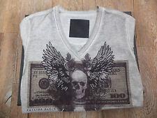 Philipp Plein V neck Dollar Tshirt shirt
