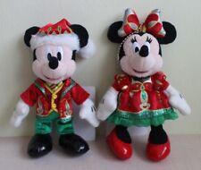 DISNEY PLUSH BADGE TOKYO MICKEY MINNIE CHRISTMAS FANTASY 2014 SET JAPAN F/S 2
