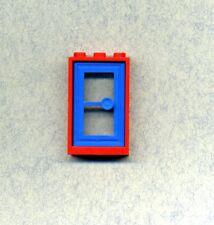 Lego--3579/7930 -- Türe -- Rahmen-Türblatt -- 1 x 3 x 4 -- Rot/Blau --