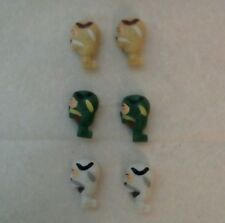 Six Ninja heads accessories for your 3.75 inch action figures