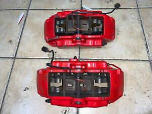 2003 2004 2005 2006 PORSCHE CAYENNE S 4.5 RED FRONT BREMBO BRAKE CALIPERS