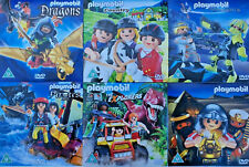 Playmobil DVDs x6 Dragons Pirates Country Romans Explorers TopAgents  New Sealed