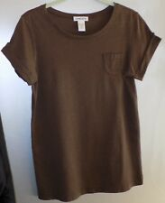 Chico's Brown Pima Cotton Blend Short Sleeve Tee - Misses Chico's Size 0/S