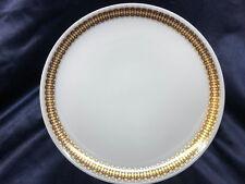 "HERITAGE BAVARIA GERMANY ARABESQUE DINNER PLATE 10 3/8"" GOLD & COBALT BAND"