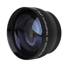 4X(52mm 2X Magnification Telephoto Lens for Nikon AF-S 18-55mm 55-200mm Lens Q4