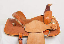 "NEW 14"" SADDLESMITH CARLOS COMBO ROPER BARREL LEATHER HORSE SADDLE MADE IN USA"