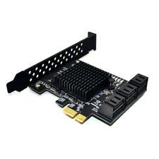 SATA 3.0 to PCIe Expansion Card PCI Express SATA Adapter SATA3 Converter 6 Ports