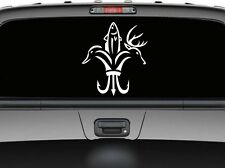 "Hunting season deer fish duck new design for car truck  decal sticker 12"" White"