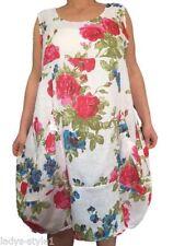 Leinene ärmellose Damenkleider Normalgröße