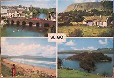 Irish Postcard SLIGO Town Multiview Ireland Bridge Ben Bulben John Hinde 2/368