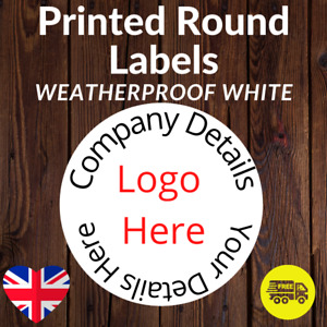 Personalised Business Name Stickers Your Logo weatherproof Labels 51mm
