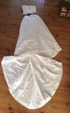 2 Piece White Beaded Corset Wedding Dress Dress Up Costume Size 10