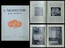 L'ARCHITECTURE 1929 ART DECO, HERBST SOGNOT PROU MARTEL RUILLIER DUFRENE