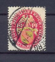 DR 399 X Wappen 10 Pfg. stehendes Wz. gestempelt Befund Schlegel (ct45)