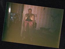 Vintage Photograph Man Wearing Crazy Arabian? Costume for Halloween