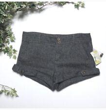 Free People Women's Shorts Striped Wool Blend Cuffed Size 12 NWT