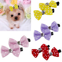 10pcs Pet Grooming Accessories Colorful Cat Dog Hair Bows Hair Clips Beauty Pets