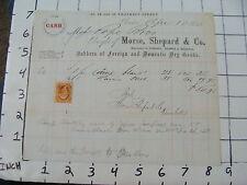 Original Vintage BILLHEAD:1866 Morse, Shepard & co DRY GOODS, BOSTON