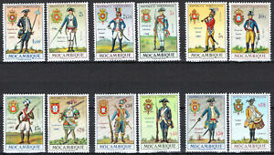 Portugal & Colonies 1967 Mozambique Military Uniforms complete set of 12 MNH