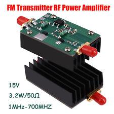 1-700MHZ 3.2W HF VHF UHF FM Transmitter RF Power Amplifier DC 15V for Ham Radio