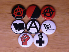 Anarchism 8 buttons pins badges anarchy anarchist stateless anarcho syndicalism