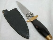 Athame Pentagram Double Sided Dagger, Ritual Item, Wicca Pagan, Witch