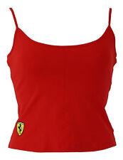 Ferrari femmes coton lycra gilet avec caché soutien taille 10-12 12-14 excellent