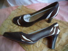 BRAND NEW SIZE 10 COLORADO FAUX PONY SKIN BROWN COURT SHOES PUMPS WITH HEEL