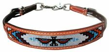 Showman Medium Oil Leather Wither Strap w/ Navajo Beaded Thunderbird Inlay