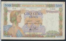 Frankrijk Pick-Aantal: 95b (1941) gebruikt (III) 1941 500 FF (7350038