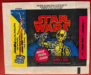 Topps Ireland 1977 - Star Wars 1st Series. Empty Gum Card Wax Wrapper