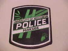 UNIVERSITY OF WISCONSIN PARKSIDE POLICE PATCH SHOULDER SIZE TYPE 2