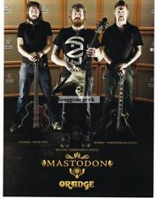 2010 ORANGE Amplifiers MASTODON Vtg Print Ad