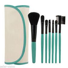 X7 Profesional Cosmético Maquillaje Sombra De Ojos Set brochas con CUERO ESTUCHE