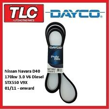 Dayco Fan Belt Nissan Navara STX550 V9X 3.0 V6 Diesel 1/2011 - on