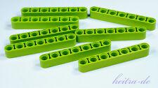 Tecnologia LEGO - 8 x liftarm Dick 1x7 Lime/Verde Chiaro/32524 Merce Nuova