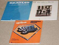 Hal Leonard The Beatles 3 music book lot. Best,Superstars,Ballads. Easy Guitar.