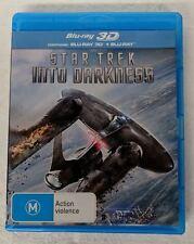 STAR TREK: Into Darkness 3D + 2D Blu-ray 2-DISC Region B oz seller