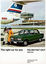 Print. 1969-71 FSO Polski Fiat 125 P (Polish) Auto Ad