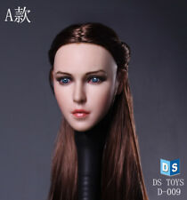 1:6 Head Sculpt beautiful euro american sexy girl fit hot toys female body D009A