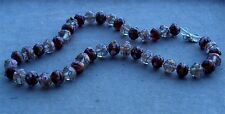 VINTAGE Murano Glass Beads Necklace WEDDING CAKE