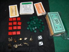 DELUXE Monopoly Board Game Pieces Parts Money Tokens WOOD Hotels Houses