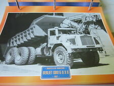 Super trucks chantiers Camion FRANCE BERLIET gb015 6x6, 1957