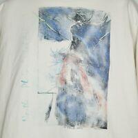 Vintage 90s Anvil XL T Shirt Northern Plains Tribal Art Elk Wildlife USA Made