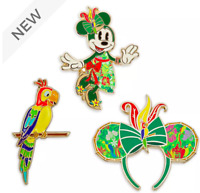 Disney Store Minnie Mouse Main Attraction Pin -  Set 5 of 12 Enchanted Tiki Room