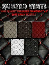 """Hq Thread Quilted Vinyl Soft Grain Texture Diamond 2""""x3"""" With 3/8"""" Foam Backing"""